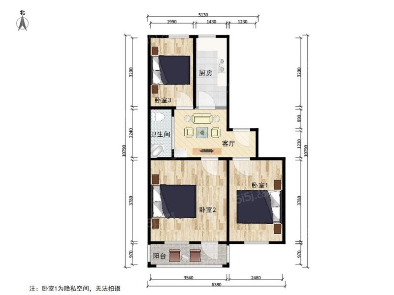 北京我爱我家老山东里 南北通透 钢混三居  业主诚意出售第7张图