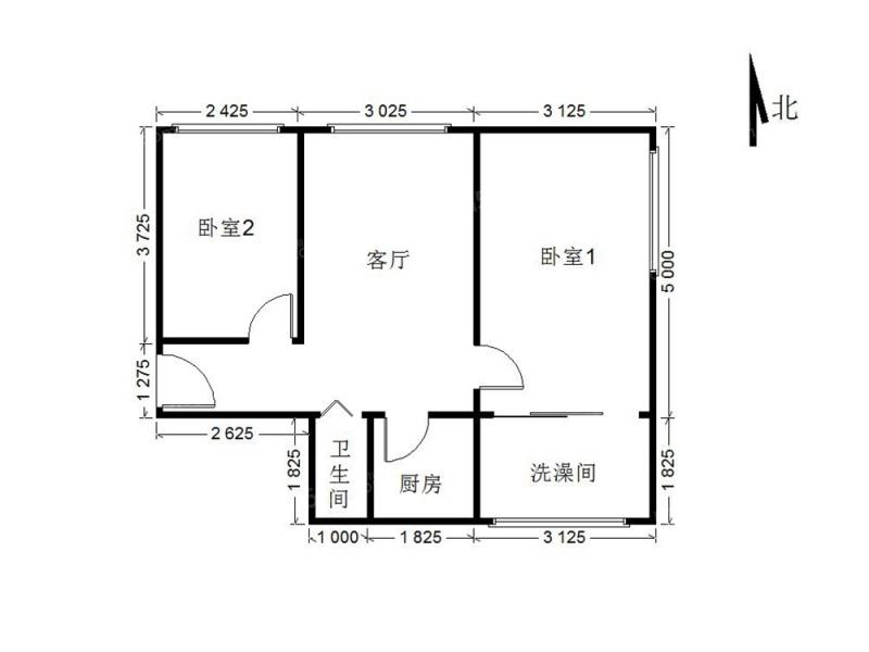 北京我爱我家裕中西里 两居室的价格买三居 精装修第9张图