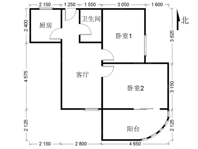 北京我爱我家精装大2居,多变户型,电梯房,适合居住,看房方便。第9张图
