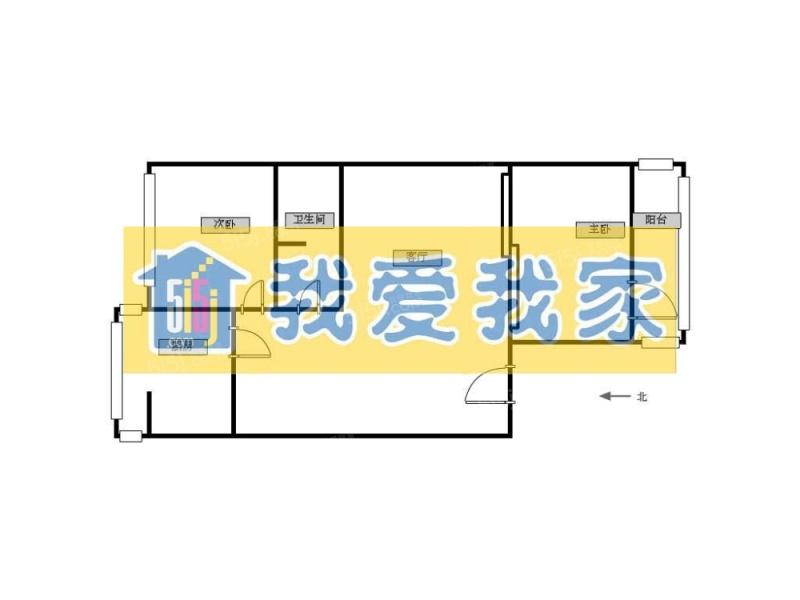 北京我爱我家房主诚心出售+南北通透两居室+首付100多第8张图