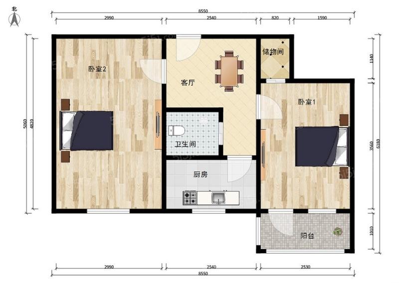 北京我爱我家裕中西里小两居室,独立小院可停车第7张图