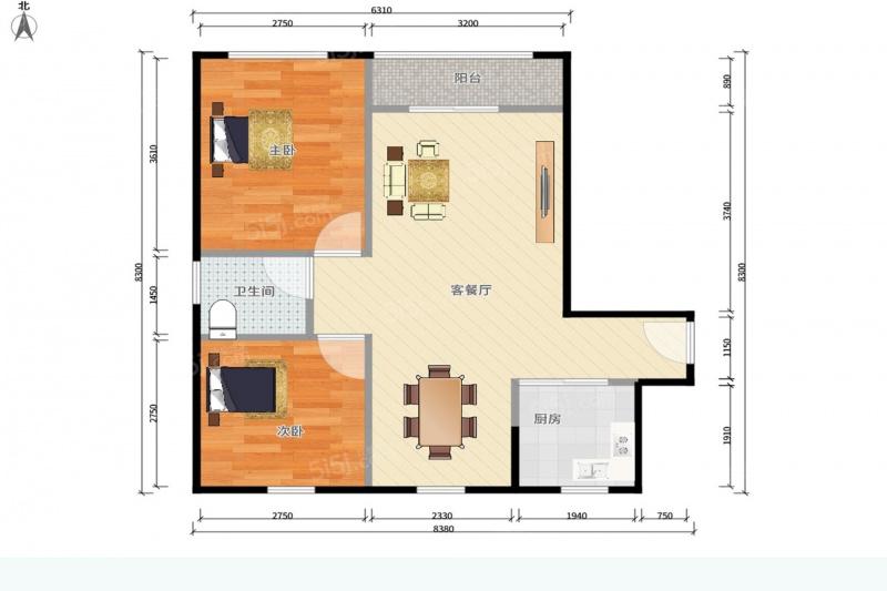 99 单价(万/m) 2室2厅 户型 98 面积(m) 小区:水岸星城四期 楼层:中