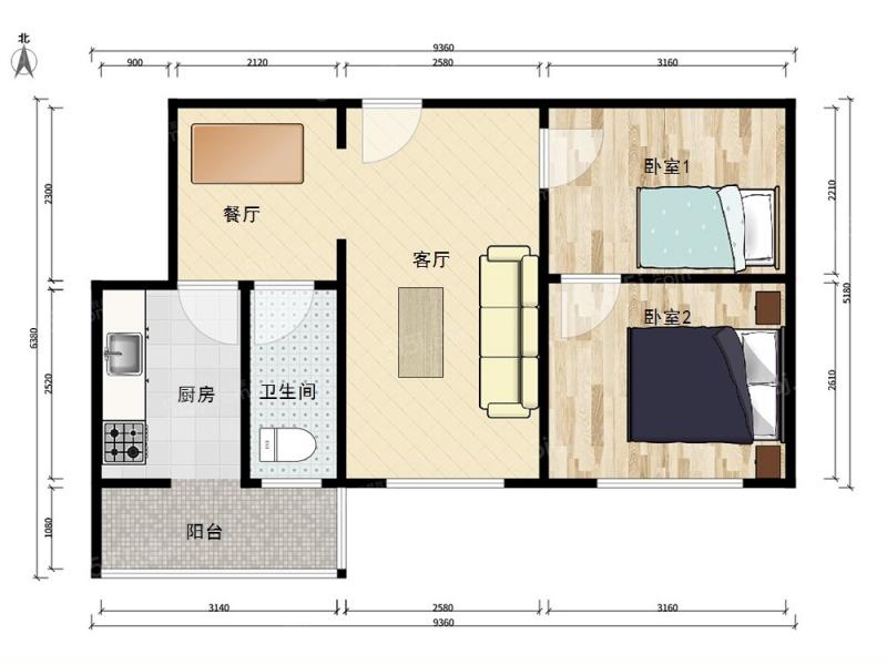 最合理的住房平面图