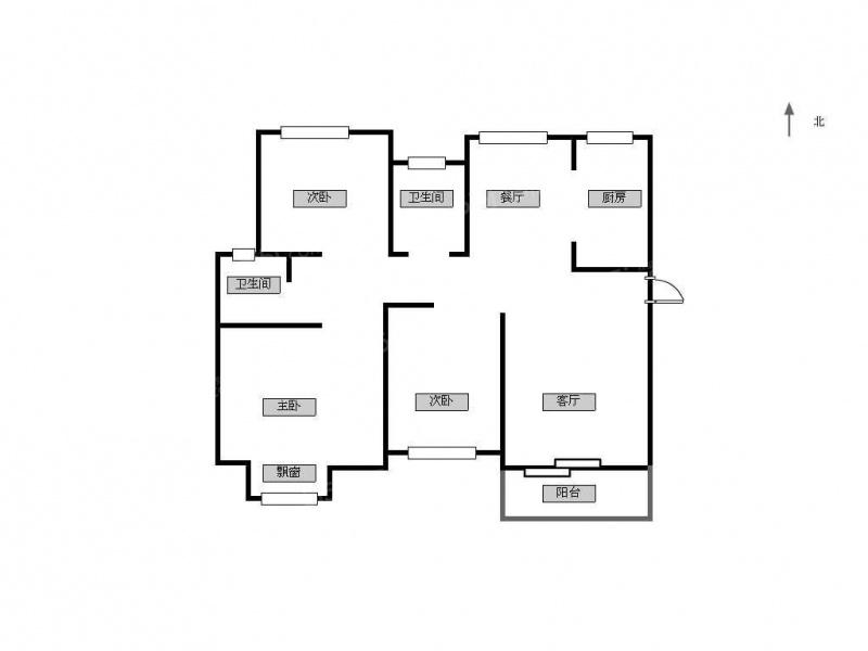84 单价(万/m) 3室2厅 户型 95 面积(m) 小区:正荣悦岚山-cbs 楼层:高