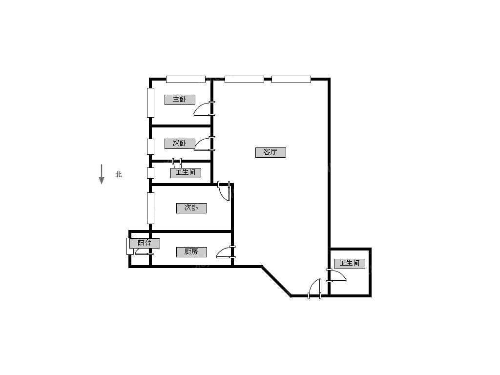 3室1厅 户型 129 面积(平米) 押2付3 支付方式 小区:华盛广场