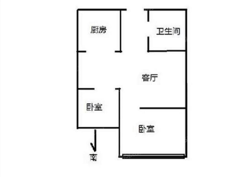 北京我爱我家长安兴融中心2居室出租第8张图