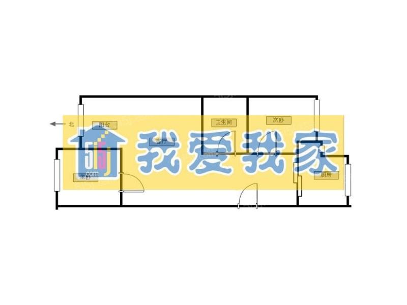 北京我爱我家西潞园+两居室+南北通透+首付90多第7张图