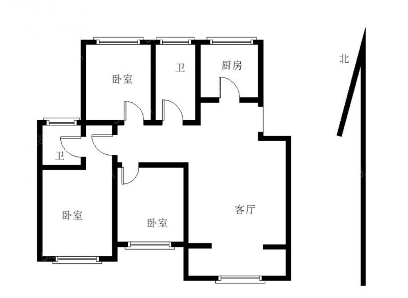 青岛我爱我家沧口小绿城 翠海宜居 南北通透大套三 多层洋房 有租赁车位第7张图