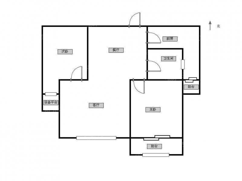 常州我爱我家市中心中装两居室,房屋清爽干净,东西齐全拎包住可看房第9张图