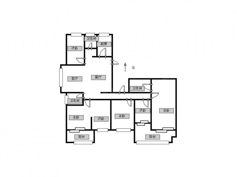 常州我爱我家钟楼区御水华庭旁 莱茵郡 户型方正,毛坯房第14张图