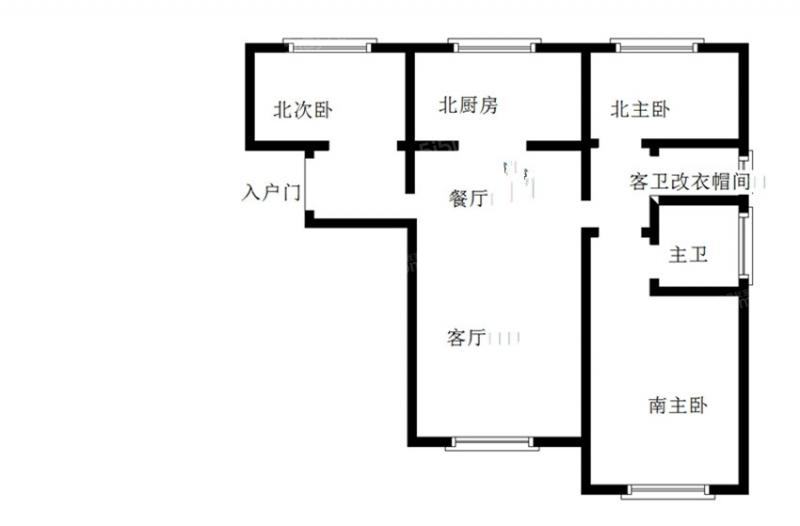 青岛我爱我家套三双厅双卫,小区人车分流,海景房,沧口公园,价格可议第7张图