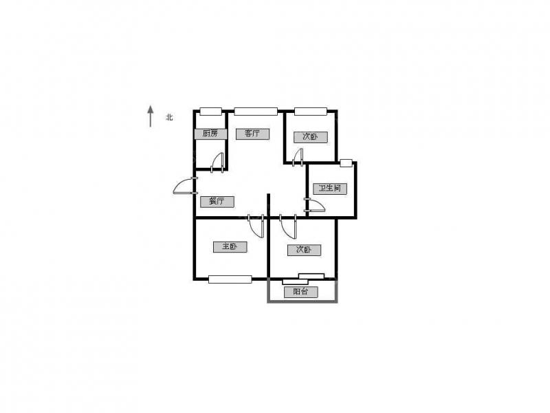 常州我爱我家华城嘉园精装三室两厅一卫,楼层好第11张图