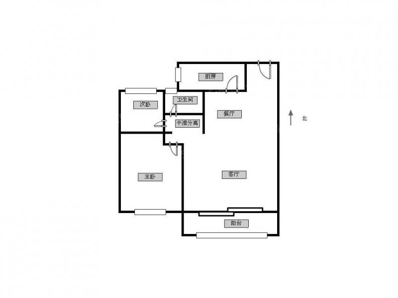 常州我爱我家九洲公馆,精装两房,中间好楼层,拎包即可入住,有钥匙随时看房第11张图